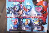 100 sets Big hero 6 Dolls Toys Baymax Fred/Tomago/Honey lemon Seal Stamper Action Figure Toys For Boys Girls Kids Gifts