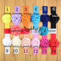 2015 Popular sell Girls Headband with Ruffle Satin Flower Mix color 50pcs/Lot