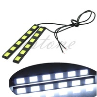 2pcs 6-LED COB Car Auto DRL Driving Lamp Daytime Running Fog Light White New