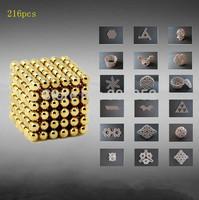 Hot DIY 216pcs Multi color bucky ball diameter Buckyballs Neocube 3mm Magnetic Ball Education Toy 3D