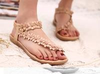 New 2015 Flat Pregnant Women Shose Sandals Slip-resistant Casual Flowers Platform Shoe Gladiator Flip Flops Beach Shoes Peep Toe