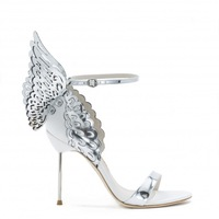 New 2015 Sophia Webster Evangeline White and Silver Sandals/shoes Women Cut-outs Butterfly buckle strap Sandals wedding shoes