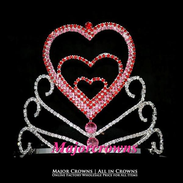 Sparkle Rhinestone Crowns Valentine Bridal Party Head Band Pageant Crown Tiara AL045(China (Mainland))