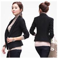 2014 New Fashion Autumn Casual Blazer Jacket Women Slim Wave V-Neck Single Button Outerwear Suit Women Coat OL