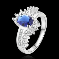 Wholesale!!Free Shipping 925 Silver Ring,Fashion Sterling Silver Jewelry blue stone uj Ring SMTR508