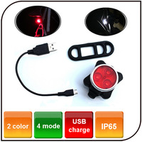 4 mode Super Bright bicycle front light Safety USB rechargeable bicycle warning light led Rear Light