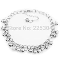 Silver Tone Jingle Bells Anklet Ankle Bracelet Link 8mm