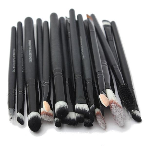 20 pcs Pro Powder Brushes Cosmetic Set Foundation Eyeshadow Lip Face Makeup Tool Women Make Up Brush Sets(China (Mainland))