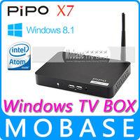 Original PIPO X7 Windows 8.1 with Bing OS Smart TV Box Intel Atom Z3736F 1.8GHz Quad Core 2GB/32GB IPTV XBMC Media Player Black