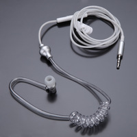 Anti-radiation Air Tube Stereo Headset Monaural In Ear MIC Headphones with Earbud for iPhone Samsung Xiaomi MP3 Tablet PC