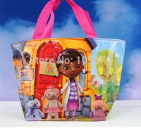 High quality  Free shipping 18pcs /lot doctor  kids Mini bag,Children's cartoon nylon bag/Waterproof bag /handbag,