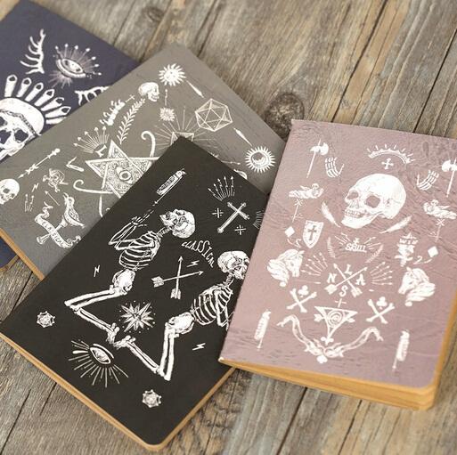 Creative Vintage Pirate skull series Kraft paper notebook/Floral notepad/wholesale(China (Mainland))