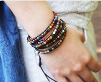 Vikiko 12 constellation lucky stone multicolour crystal gem mix match knitted bracelet small britney spears