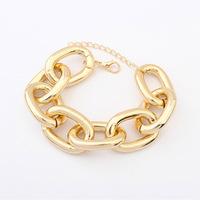 2015 Hot sale European fashion accessories former single personality heavy metal ring bracelet pulseras