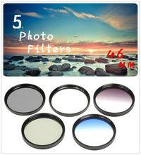 46mm 5 Photo Filter Kits  UV CPL ND4 Grad Color Filter  Lens for Canon EOS 100D  600D 1100D 1200D Camera Lens