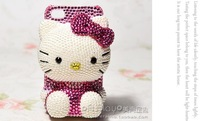 100% Handmade Bling Bling Lovely Crystal Hello Kitty DIY Mobile Phone Cell Case for iphone 6 6plus iphone 5case galaxy note 4
