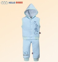 children hooded vest set  cotton warm fashion clothing pajama for boys girls newborn baby  for frozen winter