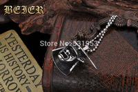 Beier hangings titanium vintage gothic pendant skull helmet necklace car decoration