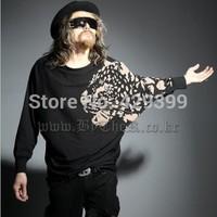 2014 autumn fashion male t-shirt personality male t-shirt male novelty long-sleeve T-shirt batwing shirt