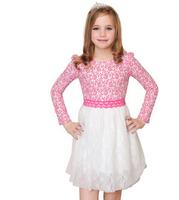 girl dress baby kids clothes 2015 new fashion high quality cotton spring children clothing long-sleeve girls princess dress