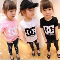 Retail 1 pcs 2014 new  summer children brands clothing,girls boys fashion short sleeve t shirts,fashion cotton top tees