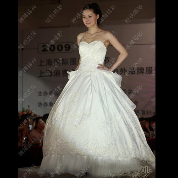 Wedding 2014Hunsha customer to map large luxury trailing wedding photos attached clients(China (Mainland))