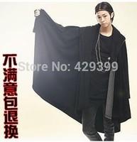 Fashion men's clothing loose batwing shirt plus size male cloak long-sleeve plus size novelty male