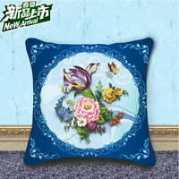 Lovely Needlework Flower Patterns Crochet Sets kits Cross-stitch Hold Pillow Crafts Home Decoration RGA