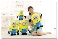 Free Shipping 3pcs / set Despicable ME Movie Plush Toy 7 inches/18cm Minion Jorge Stewart Dave  Accept Drop Shipping