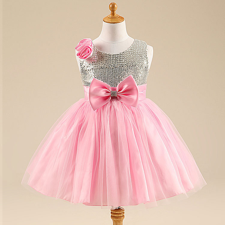 NEW 2015 Summer girl dress Elegant dress party baby girl princess dress children clothing free shipping 3 colors(China (Mainland))