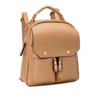 PU leather multifunction women's backpacks shoulder bag British Vintage backpack Lady girl school bags free shipping