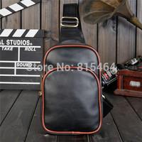 PU Crazy Horse leather unisex chest bags mens waist bags pochete cintura women fashion waist pouch designer brand fanny pack