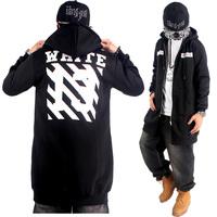 2015 Lengthen Hip Hop Hoodies Mens Brand Cardigans Zipper Coat Fashion Outerwear Overcoat Sweatshirt black WHITE 13 Pyrex HBA