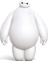 New! Big Hero 6 White PVC Action Figure Dolls. Arms And Waist Can Be Rotated 360 Degrees, High Quality Robot. Doll Height 15CM.