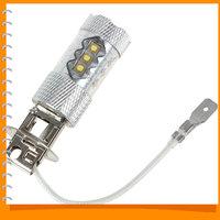 H3 80W 12V Cree LED Fog Lamp Bulb Xenon Pure White XBD-R3 Lens High Power Auto Car LED Daytime Running Bulb DRL Foglights