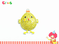 Newest  ~! 45mm*37mm    10pcs/lot  Baby Chick  Easter Rhinestone  Pendants