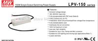 DC power supply 150W Meanwell LPV-150  12V 15V  24V 36V 48V  IP67 CE CUL   Fedex DHL free Mean well LED power supply