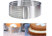 Metal Circle Adjustable Stainless Steel Chiffon Mousse Cake Layer Cut Tools Cake Slicer Device Mold Bakeware Cooking Cake Tools