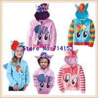 My little pony Clothes Girl's cartoon coat! Children Hoodies, Girls jacket Children's Coat,Children Clothing