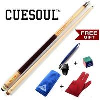 CUESOUL Pool Cue With Free Gift! Cue Towel,Cue Chalk,Billiard Chalk,Cue Glove