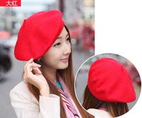 Hot Fashion Peaked Boinas Feminina Exquisite Simple Boina Solid Acrylic Women Beret Outdoor Sports Caps Sun