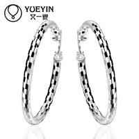 2015 Wholesale Factory cheap price Popular Fashion jewelry trendy hoop earrings for women