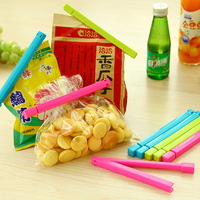6pcs/set Creative Kawaii Design Plastic Tight Food Bag Clip Seal Clips Safety Sealing Food cooking Kitchen Tools Clips
