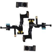 2X Front+Back Rear Camera Light Sensor Flex Cable for iPh 5C