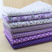 7pcs Purple 100% Cotton Patchwork Fabric for DIY Sewing Quilting Tissue extiles Tilda Doll Cloth Fabric 50*50cm Quarters