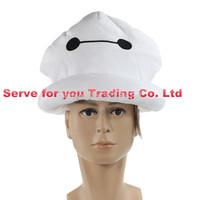 Best Sale High Quality 20cm Big Hero 6 Baymax Stuffed Plush Robot hat Large Ultra Soft Baby Classic headgear Free Shipping