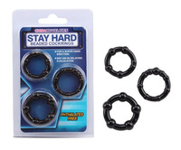 3 in 1 Penis Cock Rings 3 Pieces/Pack With Beads Powerfull Adult Sex Toys For Men Delayed Ejaculation Rings 500packs/lot