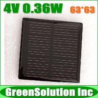 3PCS X 4V 0.36W 90mA Mini Monocrystalline Silicon Solar Panel Module, Epoxy Solar Panels Cell for DIY Solar Power Kits