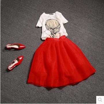 2015 new Europe fashion women causal summer dress plus size girl flower print chiffon two piece dress vintage party dresses M667(China (Mainland))