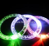 Glowing Bracelet LED flashing Flash Bracelet Wrist Ring Nocturnal Warnings Ring Glowing lighting Armband 5pcs/lot